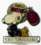 Snoopy & Woodstock with Hobo pack 'Ski Smiggens' Pin