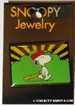Snoopy walking with baseball bat Pin