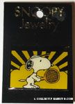 Snoopy holding tennis racket Pin