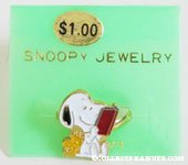 Snoopy & Woodstock reading book Ring