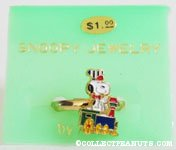 Snoopy engineer on train Ring