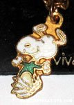 Snoopy dancing wearing shirt Necklace