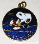 Snoopy marathon runner 'Canada' Pendant