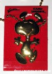 Snoopy dancing Gold-tone Necklace