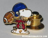 Snoopy Football player Tie Tack