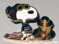 Snoopy skier Tie Tack