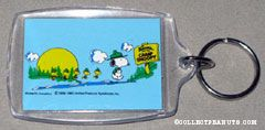 Beaglescout Snoopy & Woodstock on hike Keychain