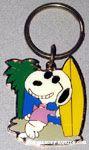 Joe Cool with Surf Board Metal Keychain
