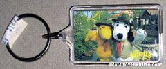 Beaglescout Snoopy & Woodstock waving Photo Keychain