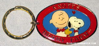 Snoopy, Charlie Brown & Woodstock 40th Anniversary logo Keychain