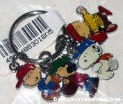 Peanuts Gang playing baseball Charm Keychain