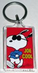 Snoopy Joe Cool running Keychain