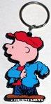Charlie Brown putting on jacket Keychain