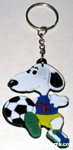 Snoopy playing Soccer Keychain