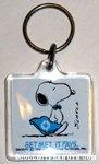Snoopy Metlife Rep Keychain