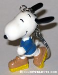 Snoopy rollerskating Keychain