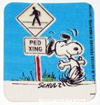Snoopy dancing at Pedestrian Crossing Patch
