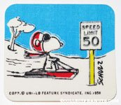 Snoopy Flying Ace Speed Limit Sign Patch