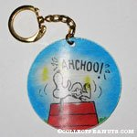Snoopy on Doghouse with Woodstock Movees Keychain