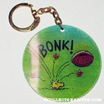Snoopy and Woodstock with Football Movees Keychain