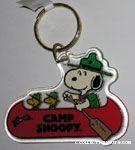 Camp Snoopy Logo Keychain