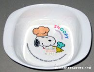 Snoopy and Woodstock Chefs Melamine Bowl