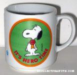 Snoopy wearing hero badge 'It's Hero Time'  Mug