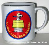 Snoopy Flying Ace on Doghouse 'Curse You, Red Baron'  Mug