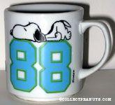 Snoopy lying on number '88' Mug