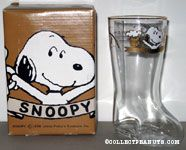 Snoopy holding pints of Root Beer Beer Boot Glass