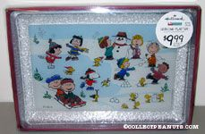 Peanuts gang outdoor winter activities Serving Platter
