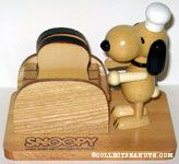 Chef Snoopy at Toaster with Toasted Bread Bottle Openers