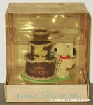 Chef Snoopy & Woodstock with Birthday Cake Keepsake Candle Holder Cake Topper