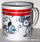Snoopy Lifting Weights Mug