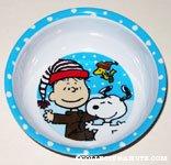 Snoopy, Rerun & Woodstock Christmas Bowl