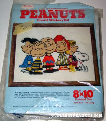 Peanuts Gang Crewel Stitchery Kit