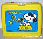 Joe Cool sitting in Dogdish Lunch Box