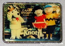 Snoopy, Charlie Brown and Lucy Mascots at Knott's Camp Snoopy Magnet