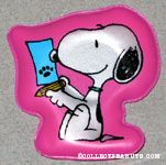 Snoopy writing paw print letter Magnet
