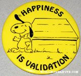 Snoopy by Doghouse 'Happiness is Validation' Magnet