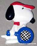 Snoopy playing tennis Magnet