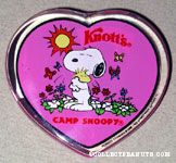 Snoopy hugging Woodstock Knott's Camp Snoopy Heart Magnet