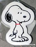 Snoopy standing Wooden Magnet