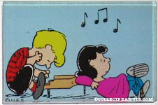 Schroeder at piano with Lucy