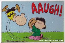 Lucy pulling football from Charlie Brown