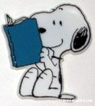 Snoopy reading Book Magnet