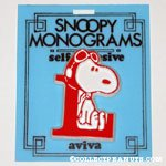 Snoopy with letter L Plastic Monogram