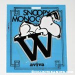 Snoopy with letter W Plastic Monogram