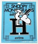 Snoopy with letter H Plastic Monogram