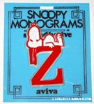 Snoopy with letter Z Plastic Monogram